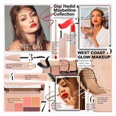"""Gigi Hadid x Maybelline Collection"" by merrygorounds ❤ liked on Polyvore featuring beauty, Whiteley, Menu, GetTheLook, BeautyTrend, polyvoreeditorial and minimalistbeauty"