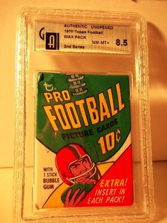 1970 Topps Football Wax Pack GAI NM-MT+ 8.5 NFL Cards Rare #NFLCollectibles