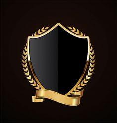 Free art print of Black Shield and Silver Ribbon Graphisches Design, Retro Design, Graphic Design Art, Game Logo Design, 3d Cnc, Anniversary Logo, Shield Design, Logo Creation, Shield Logo