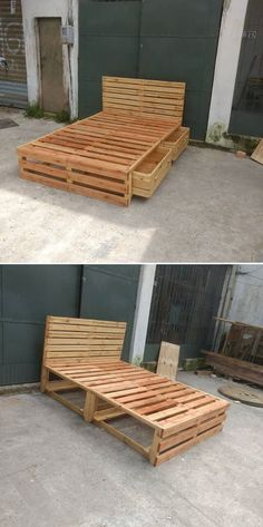 wood pallet bed frame ideas design modern luxury girl bedroom bed for boys bed canopy bed diy bed ideas bedroom men bed master bedroom bed bed comforters bed diy bed diy Wooden Pallet Beds, Pallet Bed Frames, Diy Pallet Bed, Diy Bed Frame, Diy Pallet Projects, Wood Pallets, Easy Frame, Simple Bed Frame, Pallet Ideas Bedroom