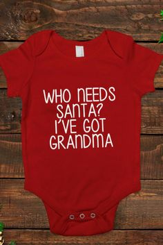 Such a cute christmas baby onesie! #affiliate