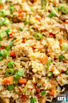 Better than takeout low syn Chicken Fried Rice - satisfy your cravings with this ready in less than 20 minutes dish! - dairy free, gluten free, Slimming World and Weight Watchers friendly Healthy Crockpot Recipes, Diet Recipes, Cooking Recipes, Diet Meals, Recipies, Ramen Recipes, Skinny Recipes, Healthy Food, Fried Chicken