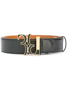 Billionaire Monogram Buckle Belt In Black Billionaire, Signature Logo, Black Belt, Brand You, Neue Trends, Belt Buckles, Calf Leather, Calves, Women Wear