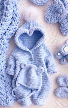 Boy Crochet Patterns, Easy Crochet Stitches, Baby Sweater Patterns, Baby Patterns, Knit Crochet, Crochet Baby Clothes, Newborn Crochet, Baby Kids, Baby Boy