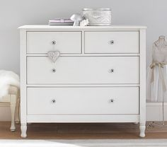 The easy charm of vintage cottage furniture is captured in the Juliette Collection. Like all of our furniture, the c… Cottage Furniture, Baby Furniture, Hemnes, Kids Dressers, Daughters Room, Small Drawers, Big Girl Rooms, Kids Rooms, High Quality Furniture