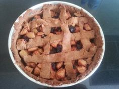 my first recipe and trial for a healthy apple pie, without added sugar.