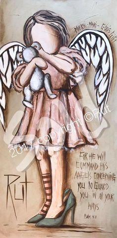 Angel Artwork, Angel Paintings, Seraph Angel, Angel Drawing, Angel Crafts, Angel Pictures, Angels Among Us, Art Sketchbook, Medium Art