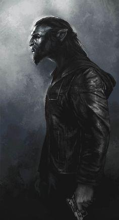 RPG Eyecandy — Artwork by: Trishkell Fantasy Male, High Fantasy, Werewolf Vs Vampire, Werewolf Art, Vampires, World Of Darkness, Fantasy Creatures, Character Art, Character Ideas