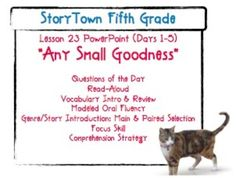 Storytown grade 5 lesson 18 project mulberry weekly powerpoint storytown grade 5 lesson 23 any small goodness weekly powerpoint fandeluxe Image collections