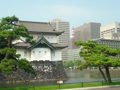 Imperial Palace and the skyscrapers of Ginza, Tokyo