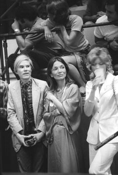 Andy Warhol with Lee Radziwill, 1972