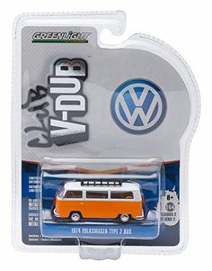 1974 VOLKSWAGEN TYPE II BUS (Bright Orange) * Club V-Dub * Series 2 Greenlight Collectibles 2015 Limited Edition Vee-Dub 1:64 Scale Die-Cast Vehicle