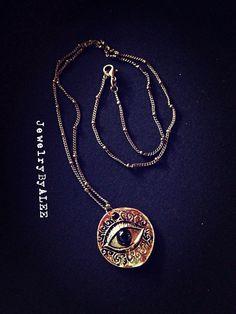 Evil Eye Necklace on Etsy, $15.50