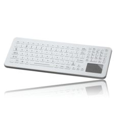 Designed for the infection control challenges of today's healthcare environment, the SlimKey-MD™ SLK-102-TP-FL medical keyboard is ideal for use in an array of clinical settings. It is manufactured with an integrated GlidePoint™ touchpad pointing device and red LED backlit keys.