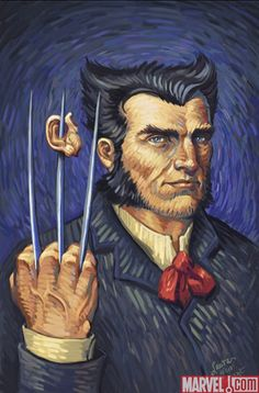Wolverine in Van Gogh style