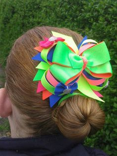 neon bow I made for my georgie <3