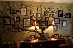 family tree wall decor decal - My husband is going to paint a family tree mural in our hall, but it will be taller and not as bold as this tree. Nonetheless, pinning for inspiration. Family Tree Wall Decor, Family Room, Family Trees, Family Wall, Big Family, Quote Family, Funny Family, Modern Family, Brady Family
