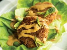 These gluten-free Thai Salmon Cakes with Spicy Peanut Sauce in Lettuce Cups are affordable to make! Compared to fresh salmon, canned salmon contains similar levels of omega-3s, vitamin D, and protein— at a lower price tag.