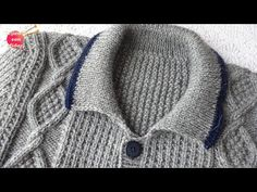 Sweater with Rombos for men (PART 3 of Man Parts, Crochet Cardigan, Knitted Hats, Pull, Diy Clothes, Crochet Baby, Barbie, Youtube, Knitting