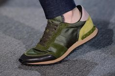 4d2b92e852b7 Valentino 2013 Spring/Summer Panelled Leather and Suede Sneakers Valentino  Trainers, Sneaker Games,