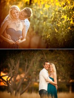 Solage Calistoga ~ Engagement Shoot From Jeffrey & Julia Woods | The Wedding Story everything has a Gaussian blur except the couple