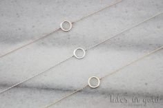 Solid Gold Bracelet Simple Circle Bracelet 14 karat by TalesInGold