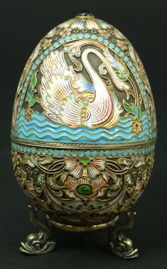 Beautiful jeweled egg