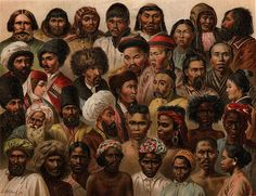 The racial diversity of Asia's peoples, Nordisk familjebok (1904)
