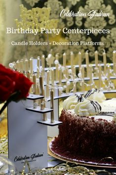 Centerpieces holding up to 100 candles. No candle wax drips on your cake. Flame-resistant, beautiful finished aluminum, reusable for years of celebrations. 75th Birthday Parties, 90th Birthday, Birthday Celebration, Birthday Ideas, Birthday Gifts, Birthday Party Centerpieces, Birthday Candles, Beautiful Candles, Milestone Birthdays
