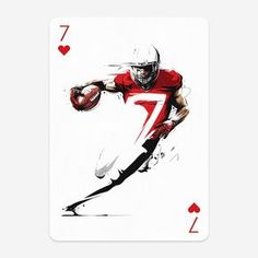 Submission for Playing Arts Special Edition contest - 7 of Hearts. Art Sport, Sports Art, Sports Posters, Adobe Portfolio, Football Tattoo, Football Art, Football Helmets, Pretty Blue Eyes, Bra Pattern