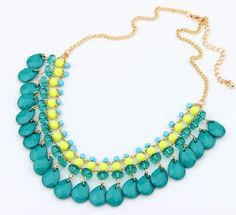 New 2015 Hot Pendant Necklace Bohemia Jewelry Link Chain Statement Necklaces Colar Collar Pendants For Gift Party Wedding