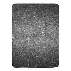 (Elegant Faux Black Glitter Stroller Blanket)  Best  Black  Bling  Chic 033aa8e2dd