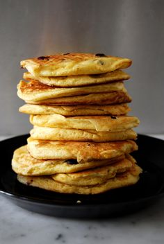 eat in my kitchen ° Fluffy Blueberry Pancakes with Maple Syrup and Cinnamon