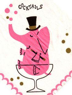 pink elephant cocktails #kitsch