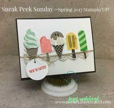 Sneak Peek Sunday – Stampin' UP! Spring 2017 Cool Treats  Bundle  #remarkablycreated #stampinup