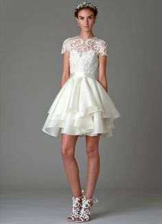 Let's Keep it Short - Marchesa Wedding Dress: Gowns for Every Blushing Bride - EverAfterGuide