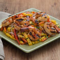Thai Mango Salad with Grilled Shrimp – Kick it up a notch with this sweet, spicy and deliciously satisfying summer salad. Thai chili, fresh cilantro and olive oil make this Asian-inspired dish one to remember. Seafood Dishes, Seafood Recipes, Thai Recipes, Low Sodium Recipes, Healthy Recipes, Thai Mango Salad, Grilled Shrimp, Thai Shrimp, Asian Stir Fry