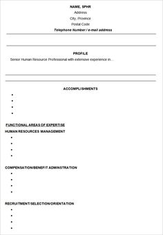 7 best functional resume template images on pinterest cv template