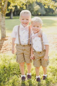 Ring bearer/pageboy outfits.. Pants instead of shorts, but so cute!!