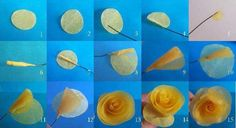 A different way of making roses - French