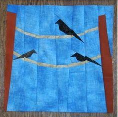 This Birds on a Wire Block is SO beautiful, and perfect for a cold winter day when you're dreaming of spring!
