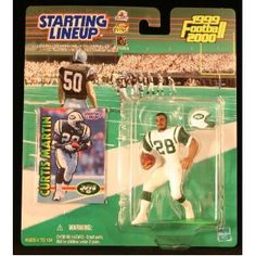 CURTIS MARTIN / NEW YORK JETS 1999-2000 NFL Starting Lineup Action Figure & Exclusive NFL Collector Trading Card (Toy)  http://budconvention.com/zone1.php?p=B000YOCFNW  #newyork
