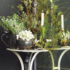Green white flowers