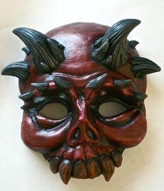 Demon Skull Mask by MindsEyeCreation on Etsy, $65.00