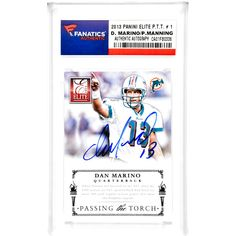 Dan Marino, Peyton Manning Miami Dolphins/Denver Broncos Fanatics Authentic Autographed 2013 Panini Elite P.T.T. #1 Card - $319.99