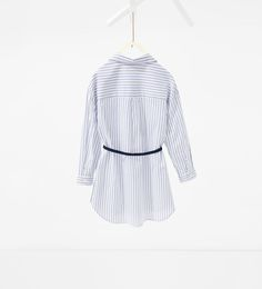 Image 2 of Belted shirt dress from Zara