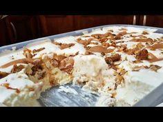 Απίθανο παγωτό με καραμελωμένα καρύδια και σάλτσα καραμέλας - YouTube Frozen Yoghurt, Greek Recipes, Sorbet, Oatmeal, Ice Cream, Gluten Free, Breakfast, Desserts, Food