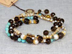 bab683696fe4 Бусы из амазонита и других натуральных камней от BRimar Французские  Девушки, Ювелирные Изделия Ожерелья,