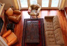 Client home: Indonesian Old Door Coffee Table from Gado Gado.