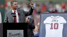 chipper jones jersey retirement | former atlanta braves chipper jones